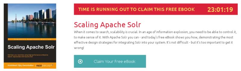 Scaling Apache Solr, ebook gratuito disponible durante las próximas 23 horas