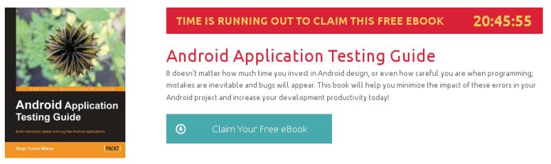 Android Application Testing Guide, ebook gratuito disponible durante las próximas 20 horas
