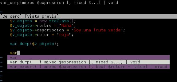 Autocompletar PHP en vim
