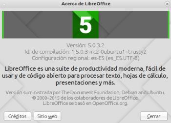 LibreOffice 5.0.3 en Ubuntu 14.04.3 LTS