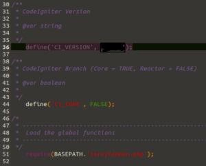 Versión de CodeIgniter (imagen destacada)