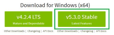 Descargar NodeJS para Windows 10 de 64 bits