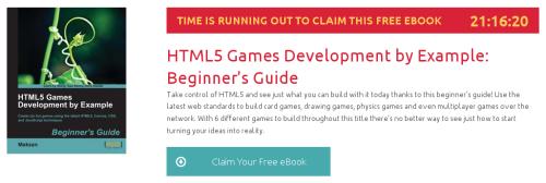 HTML5 Games Development by Example: Beginner's Guide, ebook gratuito disponible durante las próximas 21 horas