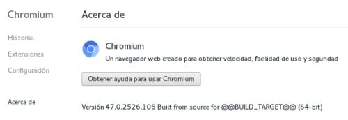 Chromium en Fedora 23