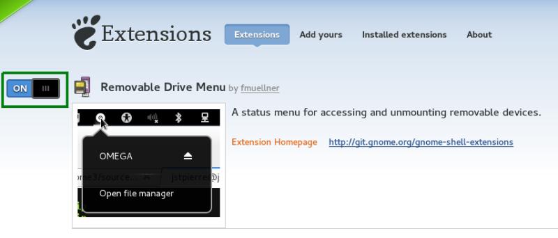 Instalar extensión en Gnome Shell