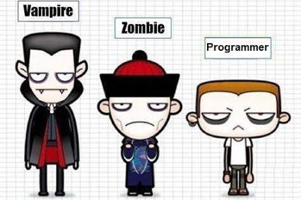 La similitud de un Vampiro, Zombie y Programador