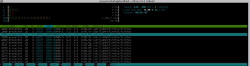 htop 2.0 en Fedora 23