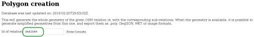 id de relación de OSM