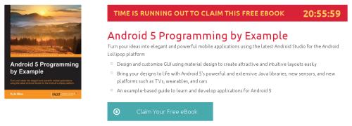 Android 5 Programming by Example, ebook gratuito disponible durante las próximas 20 horas