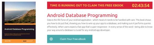 Android Database Programming, ebook gratuito disponible durante las próximas 2 horas