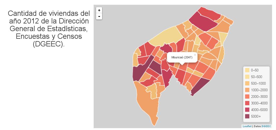Cantidad de viviendas de los barrios de Asunción