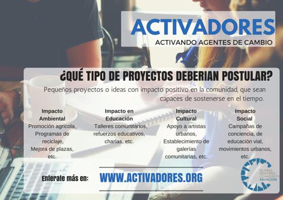 Concurso Activadores para impulsar y fortalecer proyectos con impacto en comunidades