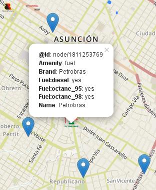 Mostrando información sobre una estación de servicio Petrobras