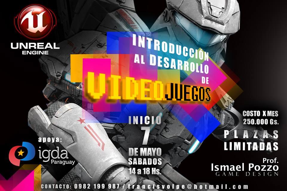 Curso presencial sobre desarrollo de videojuegos en Paraguay