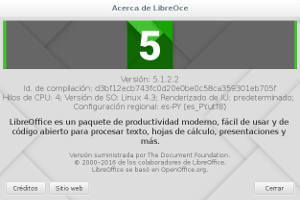 LibreOffice 5.1.2 en Debian Jessie (imagen destacada)