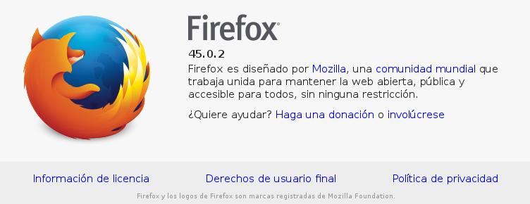 Mozilla Firefox en Debian Jessie