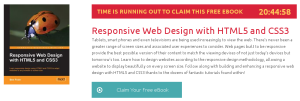 Responsive Web Design with HTML5 and CSS3, ebook gratuito disponible durante las próximas 20 horas (imagen destacada)