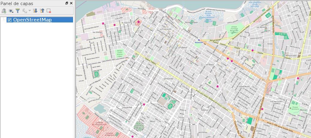 Visualización en un mapa con datos OSM en QGIS