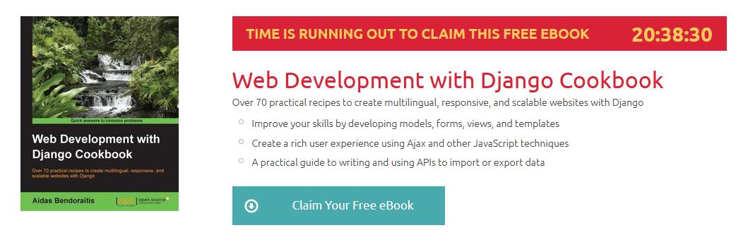 Web Development with Django Cookbook, ebook gratuito disponible durante las próximas 20 horas