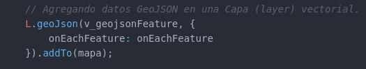 Agregamos código en la capa vectorial donde se encuentra los datos GeoJSON