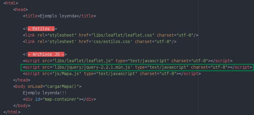 Agregamos en el index html el archivo JQuery.js