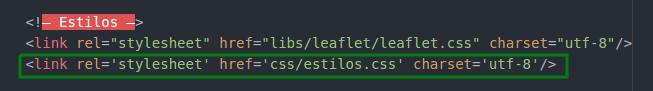 Agregar archivo estilos al index.html