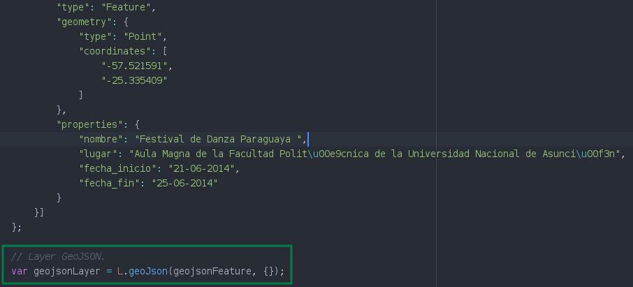 Agregar una capa vectorial con datos GeoJSON