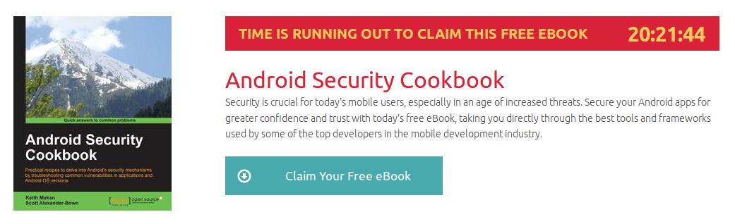 Android Security Cookbook, ebook gratuito disponible durante las próximas 20 horas