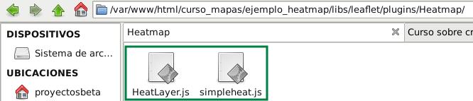 Archivos js para el mapa de calor