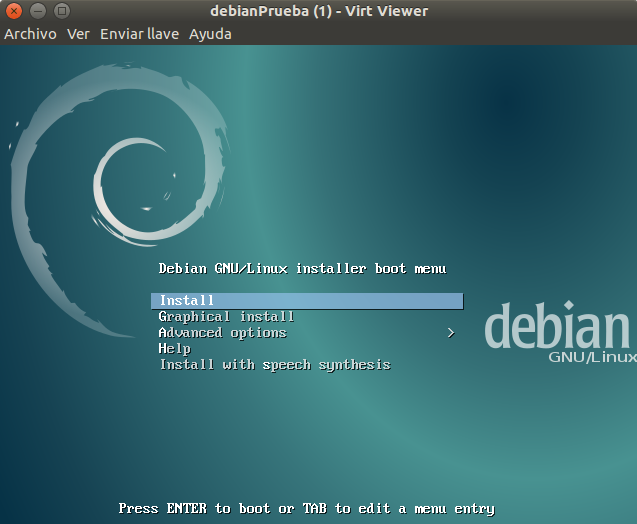 Instalando Debian Jessie en KVM de Ubuntu 16.04 LTS