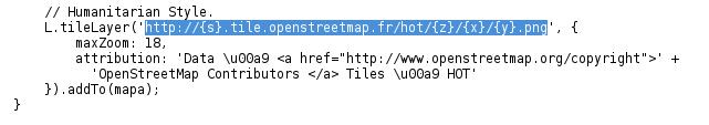 Link del servidor de mapas que contiene datos OSM
