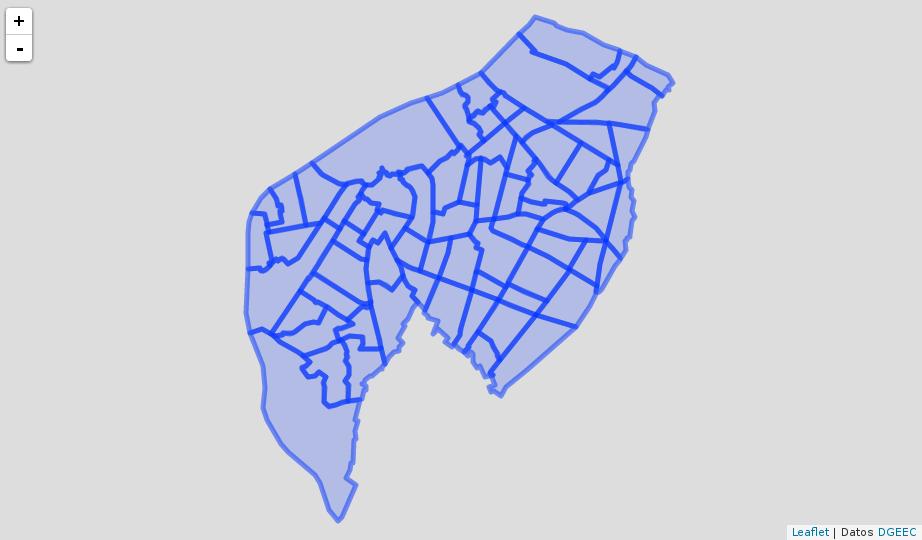 Mapa con datos GeoJSON y sin estilos