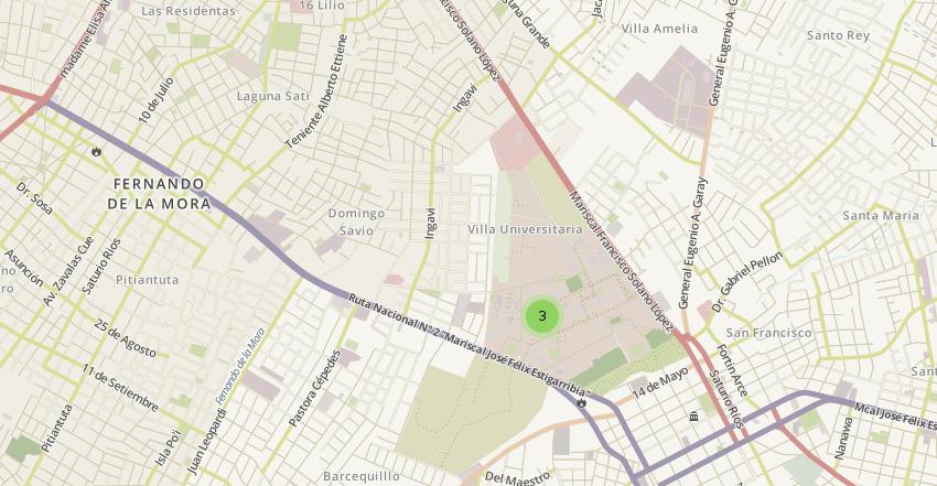 Mapa con el cluster