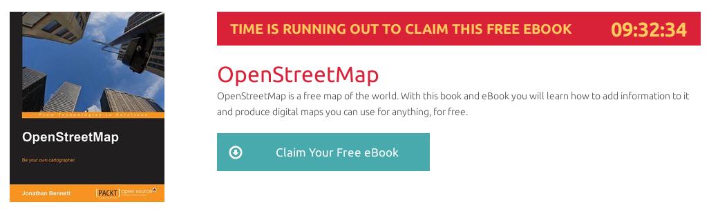 OpenStreetMap, ebook gratuito disponible durante las próximas 9 horas