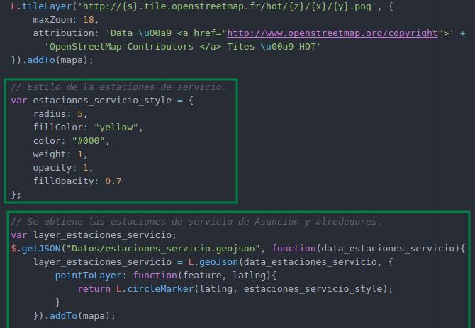 Agregamos estilos y capa vectoriales con datos GeoJSON