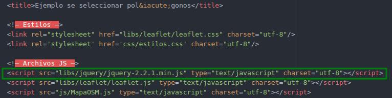 Agregar el archivo jquery en el index.html