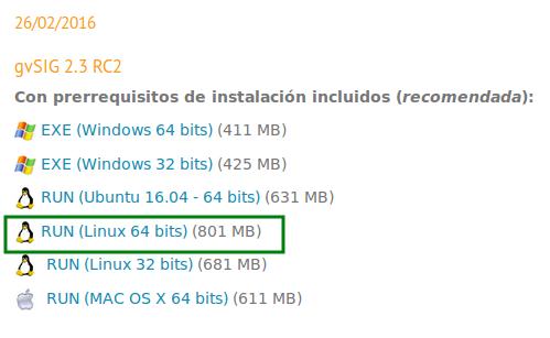 Descargar gvSIG 2.3 RC2 de 64 bits