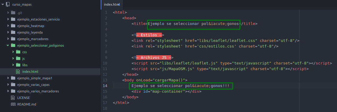 Modificar el index.html