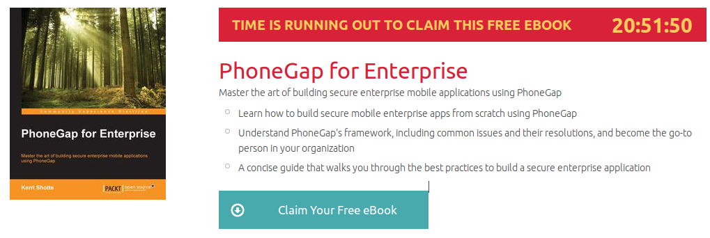 PhoneGap for Enterprise, ebook gratuito disponible durante las próximas 20 horas