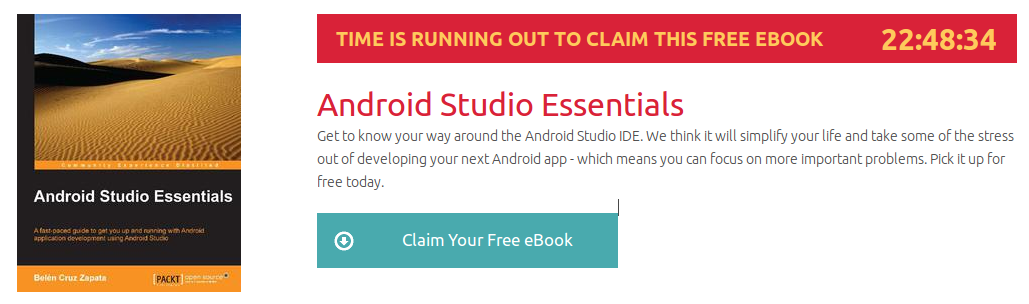 Android Studio Essentials, ebook gratuito disponible durante las próximas 22 horas
