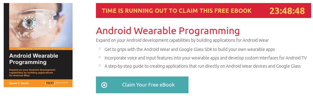 Android Wearable Programming, ebook gratuito disponible durante las próximas 23 horas