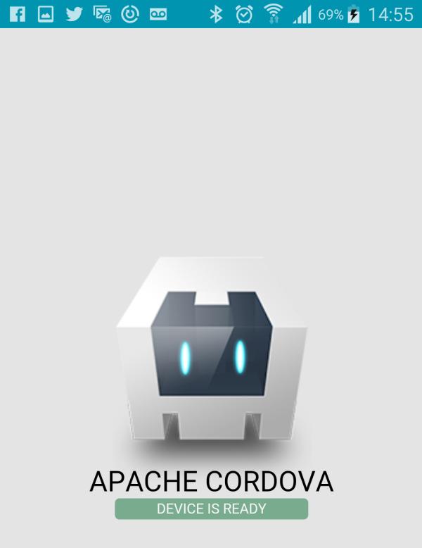 Aplicación de ejemplo de Apache Cordova