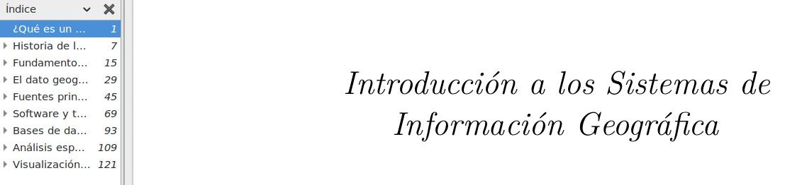 Descargar libro sobre Introducción a los Sistemas de Información Geográfica