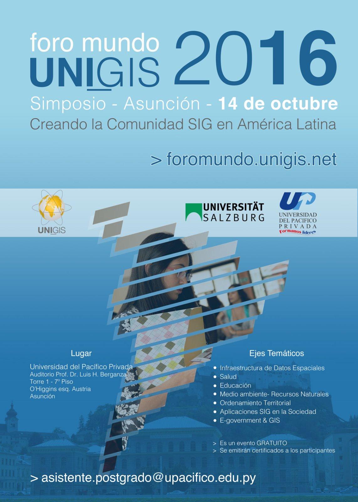 Foro Mundo UNIGIS 2016 - Simposio - Asunción - 14 de octubre