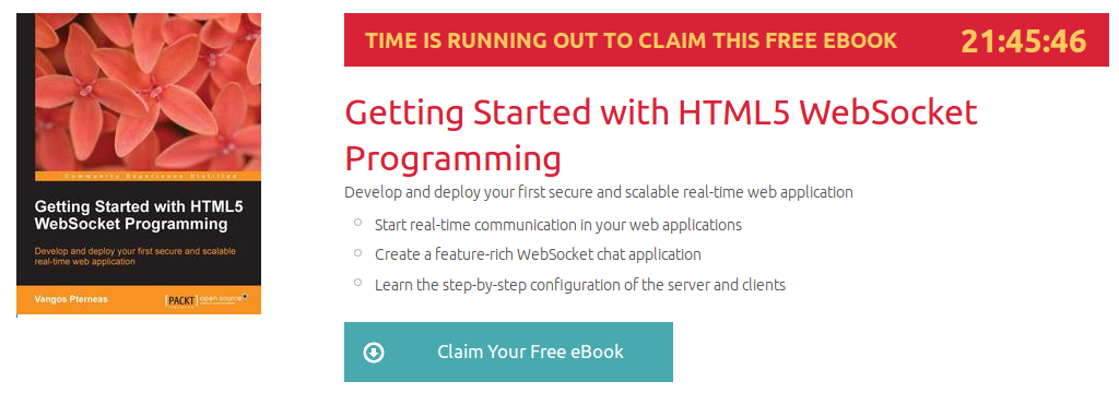 Getting Started with HTML5 WebSocket Programming, ebook gratuito disponible durante las próximas 21 horas
