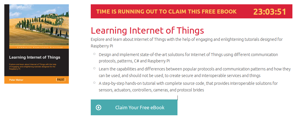 Learning Internet of Things, ebook gratuito disponible durante las próximas 23 horas