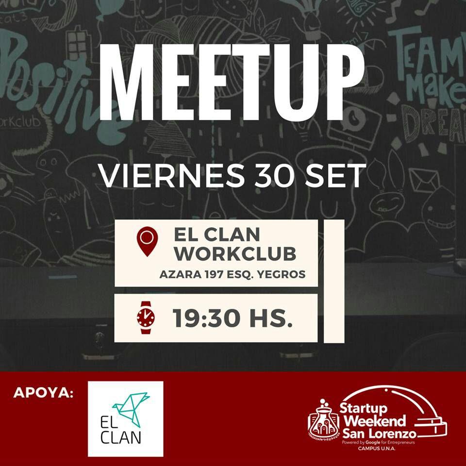 Meet-up del Startup Weekend San Lorenzo