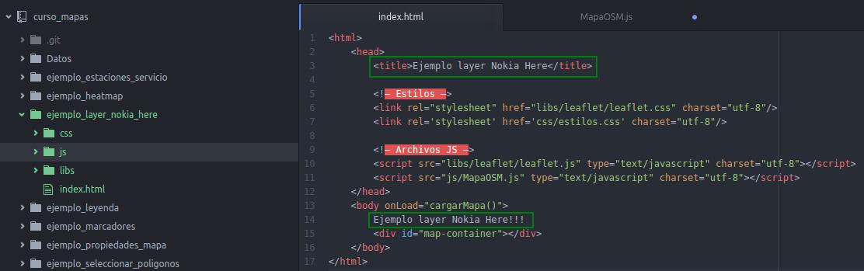 Modificaciones en el index.html