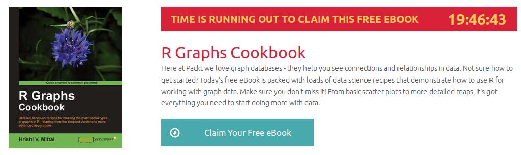 R Graphs Cookbook, ebook gratuito disponible durante las próximas 19 horas
