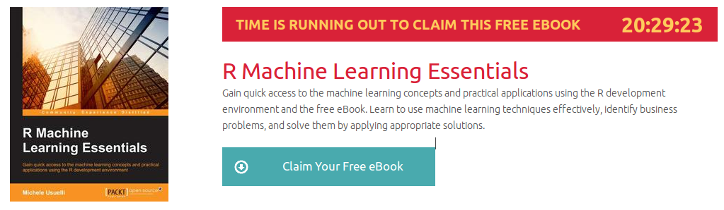R Machine Learning Essentials, ebook gratuito disponible durante las próximas 20 horas